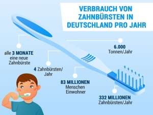 Verbrauch Zahnbürsten im Jahr