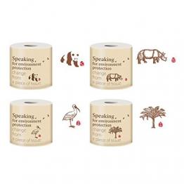 Hffan nachhaltiges Toilettenpapier aus 100% Bambus | 8X Rollen á 200 Blatt - 3 lagig sanft trocken & angenehm weich | holzfreies Klopapier in plastikfreier Verpackung | WC-Papier Toilet Paper - 1